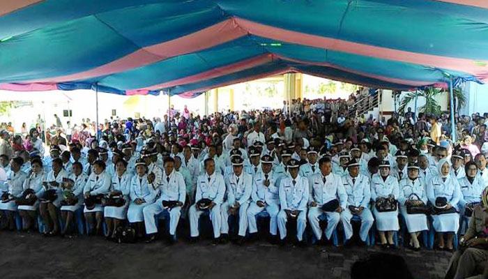 Tampak 94 Sangadi di Kabupaten Bolmong, hasil Pilsang dilantik oleh Bupati Bolmong Hi.Salihi Mokodongan