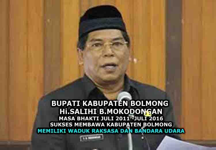 Bupati Bolmong Salihi Mokodongan bapak pembangunan