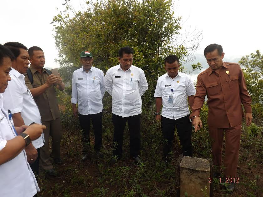 Kunjungan kerja Komisi I Deprov Sulut dan Pemkab Bolmong saat melakukan survei titik kordinat tapal batas Bolmong dan Bolsel
