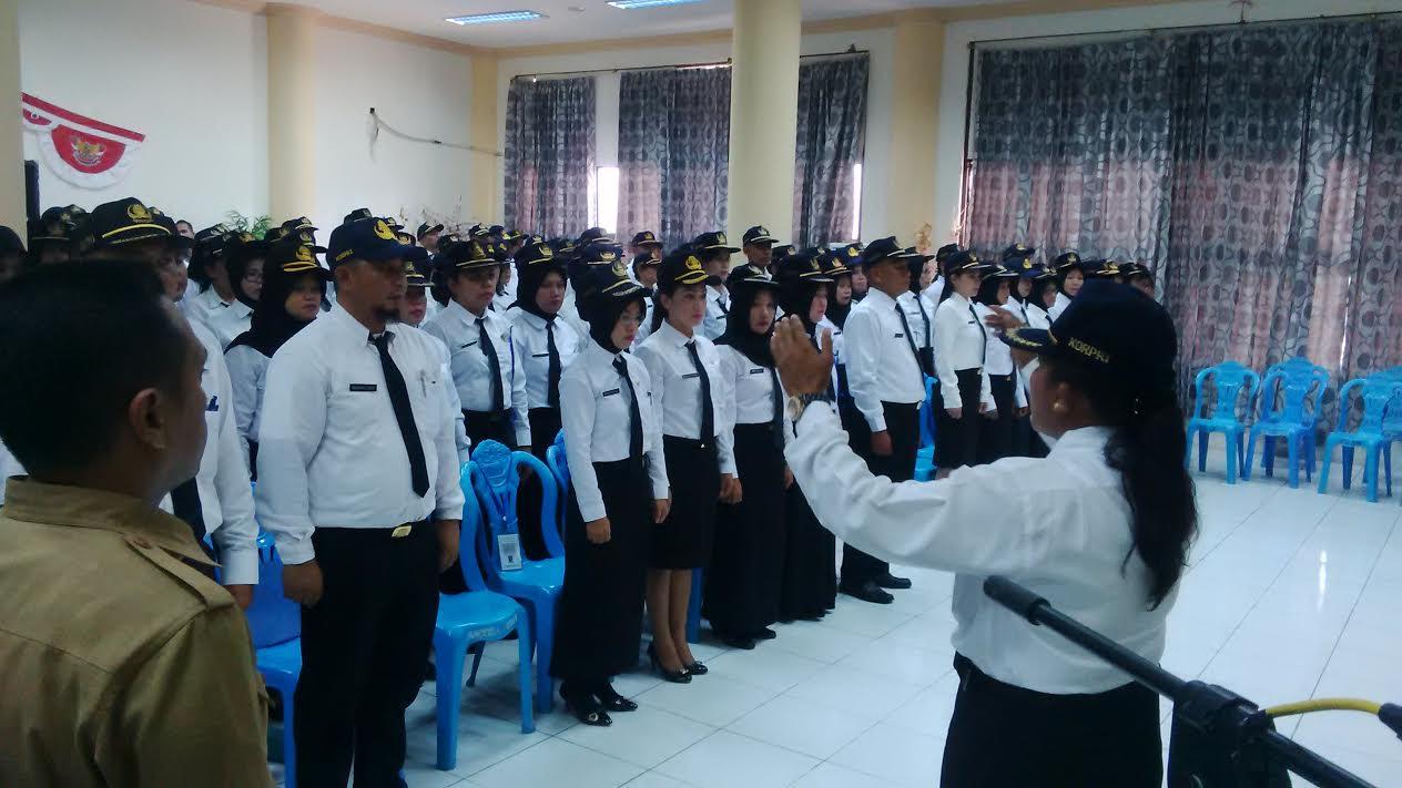 Tampak CPNS Bolmong yang siap melaksanakan Prajabatan