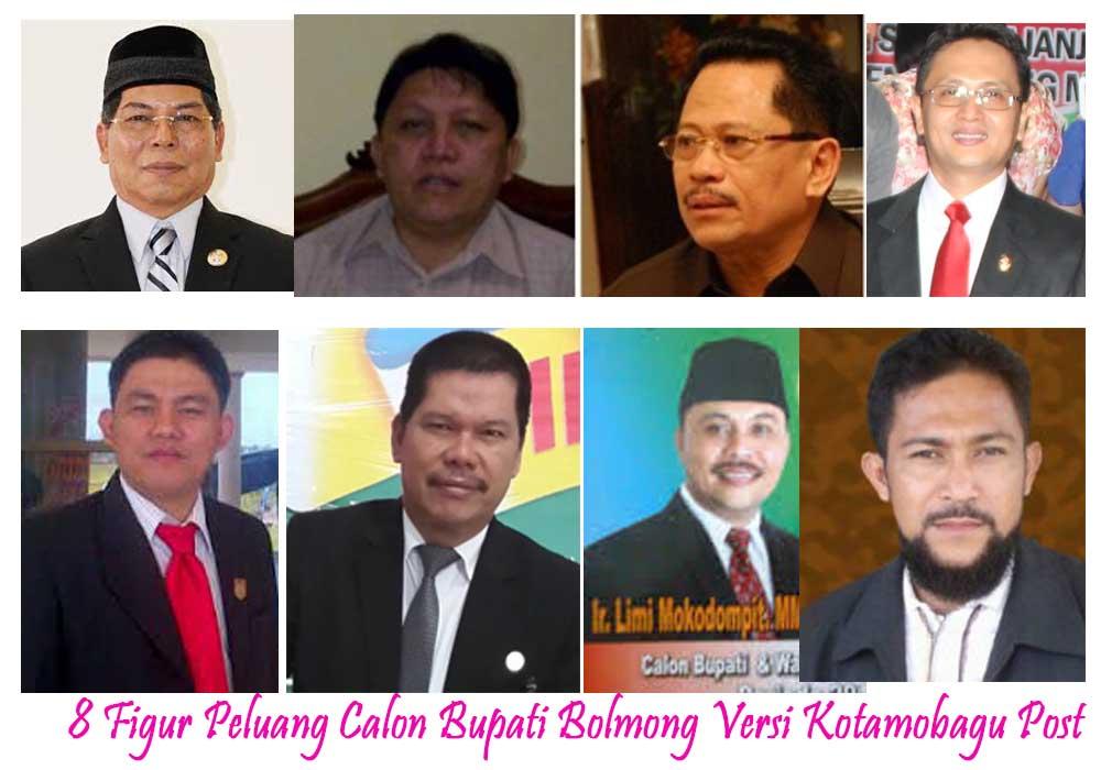 Inilah 8 figur berpeluang kuat diusung sebagai calon bupati bolmong pada bursa Pilkada Bolmong Tahun 2017 nanti. (dok : istimewa)