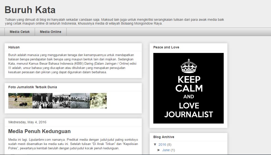 tampilan blog pengkritik media massa di bmr