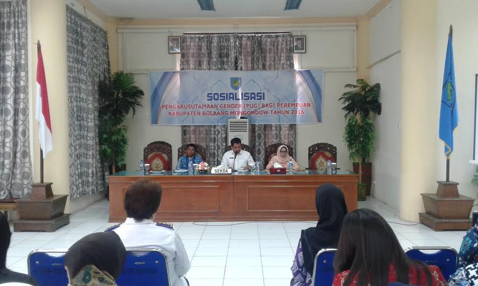 Sosialisasi Pengarusutamaan Gender di Kabupaten Bolmong