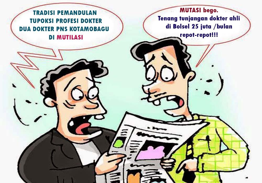 Ilustrasi kariikatur. Pemandulan Profesi Dokter Di Era Pemerintahan Walikota Tatong Bara (kaltimpost)