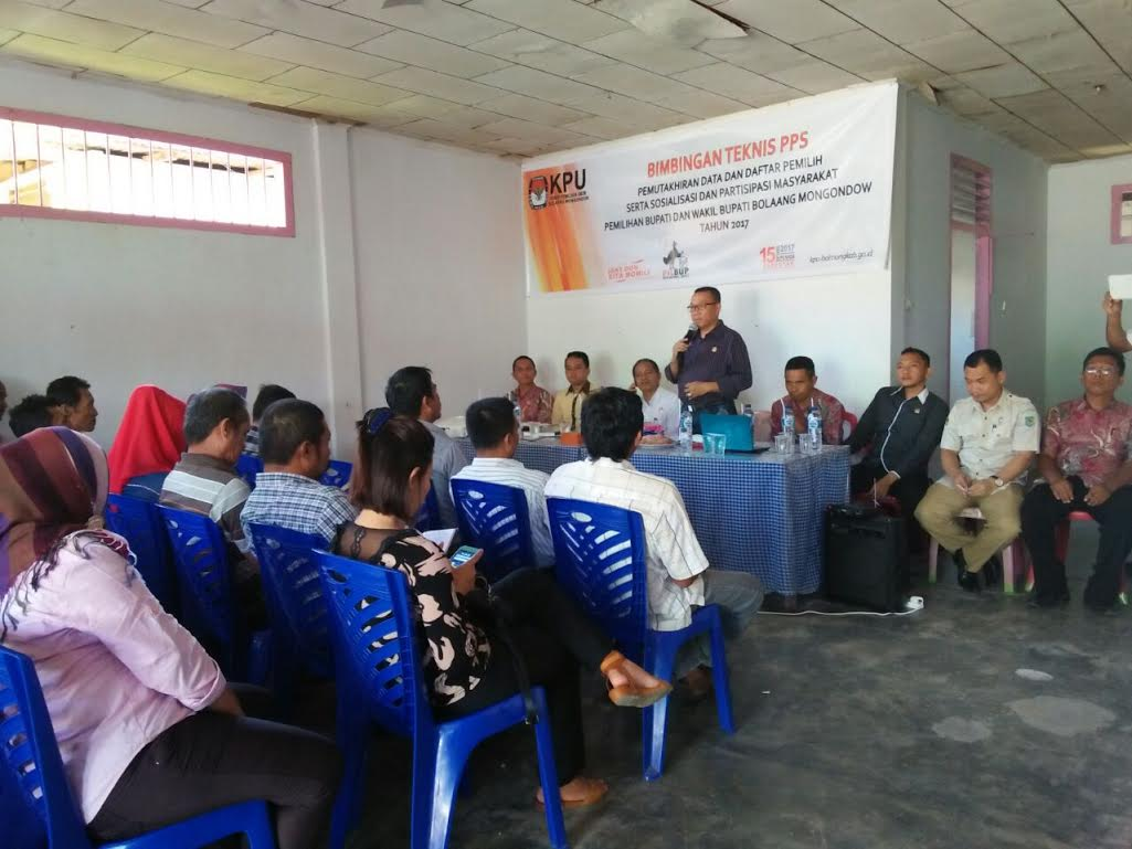 KPUD Bolmong Gelar Bimtek Bagi PPS 15 Kecamatan Se Kabupaten Bolmong