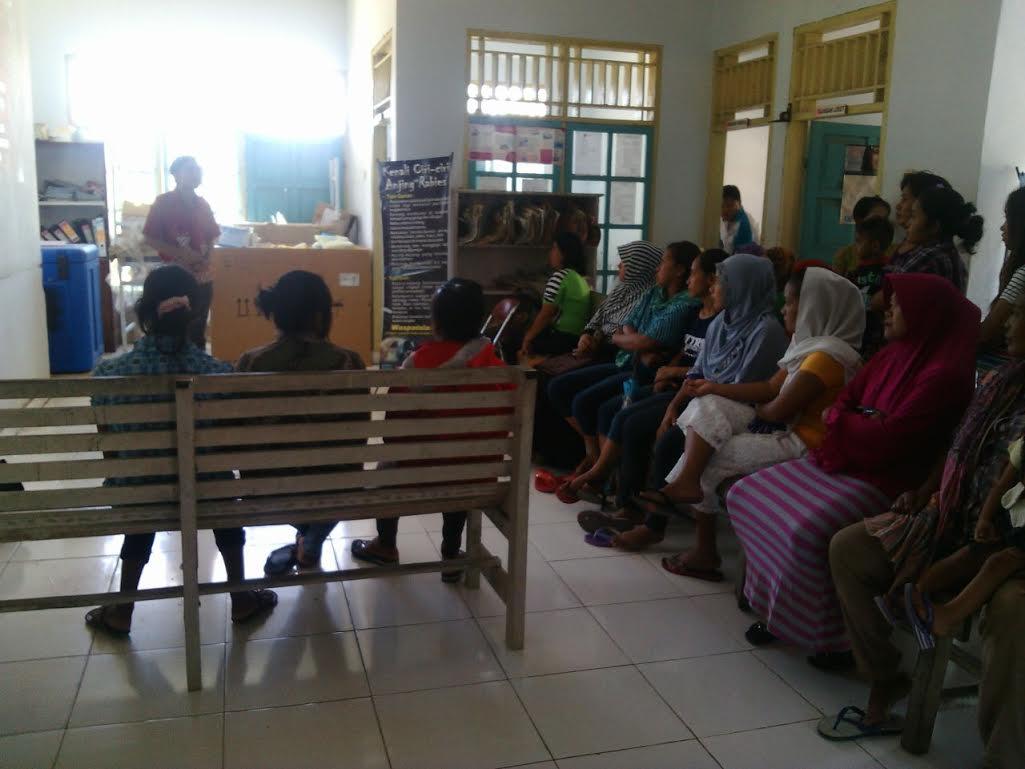 Sosialisasi bahaya penyakit kanker serviks di Kabupaten Bolmong