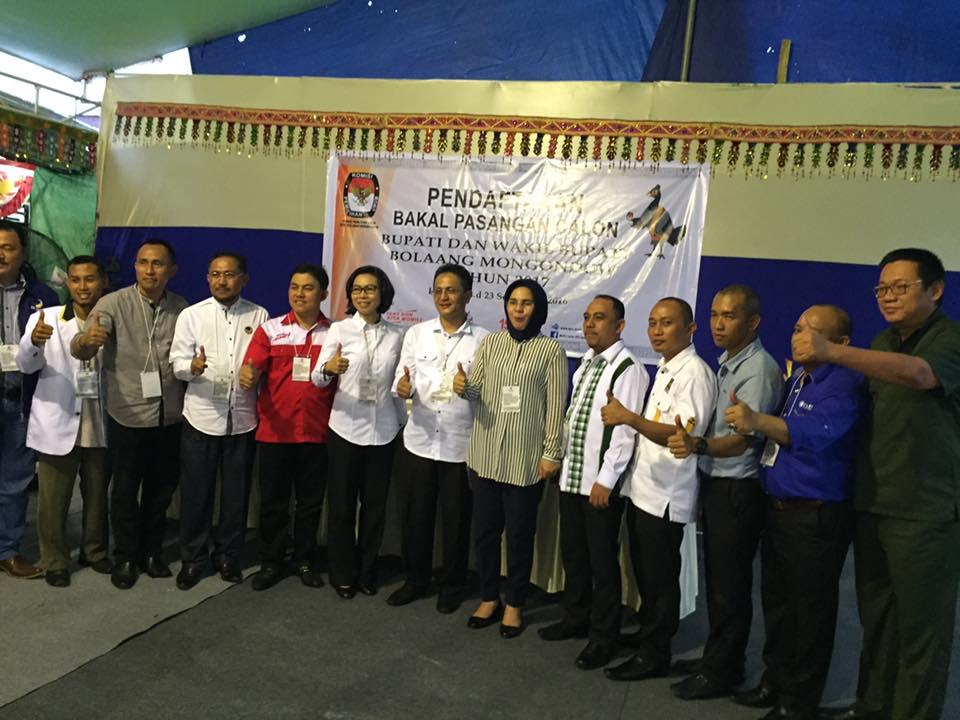 Daftar Lagi, KPU Bolmong Nyatakan Berkas Yasti-Yanni Lengkap