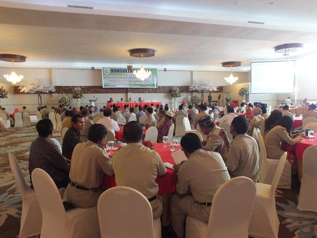 Kegiatan Konsultasi Publik Penyusunan Kajian Lingkungan Hidup Strategis dilaksanakan oleh Pemerintah Kota Kotamobagu (dok humas)