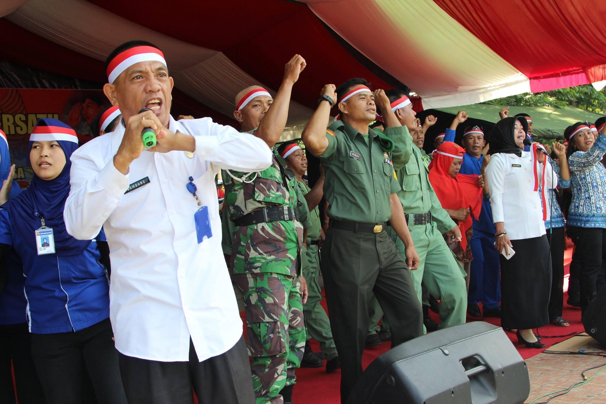 Suasana Gerakan Nusantara Bersatu Cinta NKRI yang digelar di Alun Boki Hontinimbang Kotamobagu Rabu 30 November 2016 (dok Ktg Post)
