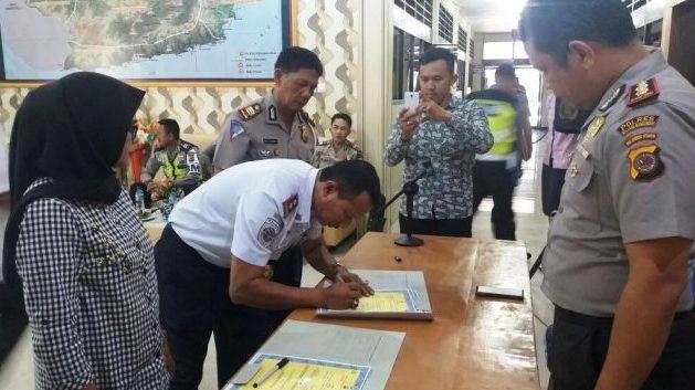 Sinergitas Pelayanan Publik, Dishub Kotamobagu Mou dengan Polres Bolmong