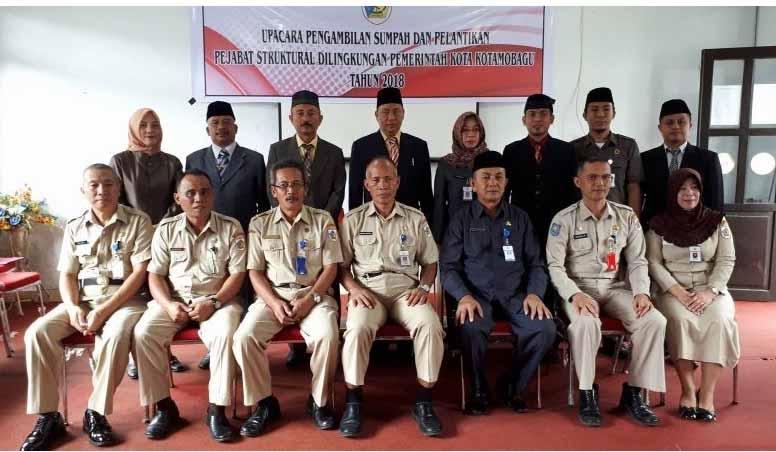 Sekda Kotamobagu Pimpin Pelantikan 10 Pejabat Definitif Esalon II