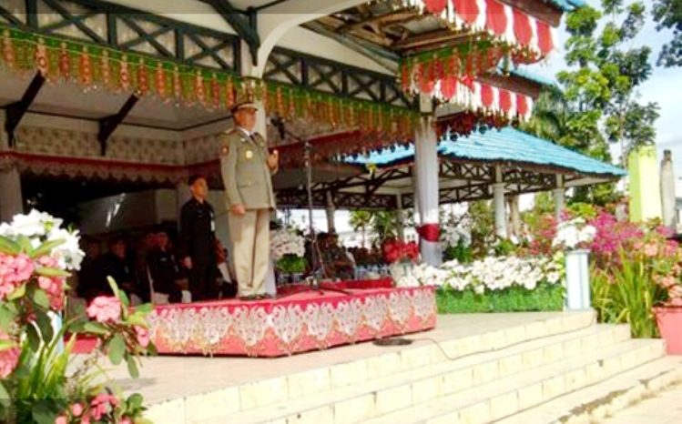 Pjs Walikota, Bacakan Sambutan Mendagri, Upacara HUT Sat Pol PP Ke-68