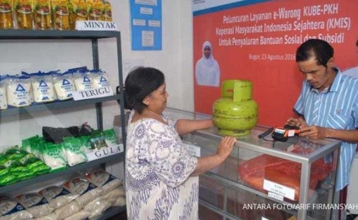 Distribusi Bantuan Pangan Non Tunai via 8 E-Wartung di 4 Kecamatan