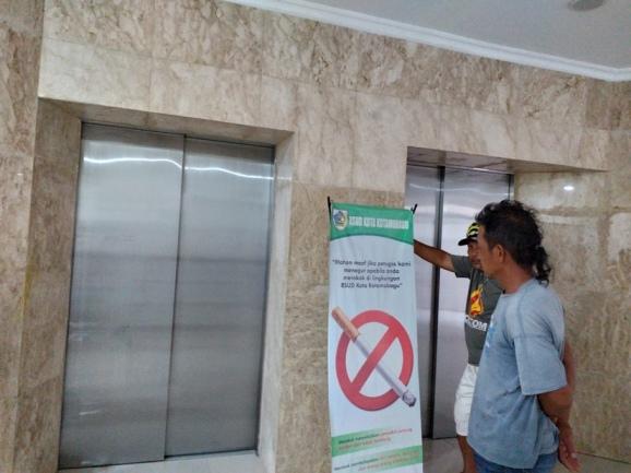 Bebas Gunakan Lift, Pasien dan Pembesuk di RSUD Kotamobagu