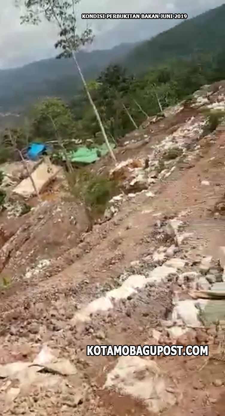 KONDISI TERKINI PERBUKITAN BAKAN Perbukitan telah hancur digeruk oleh puluhan eksavator
