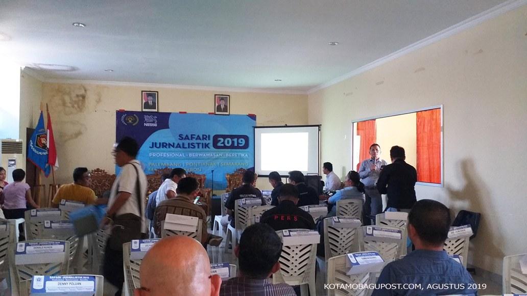 10 Wartawan asal Kota Kotamobagu, Ikut Safari Jurnalistik 2019 Digelar PWI Pusat di Kota Manado