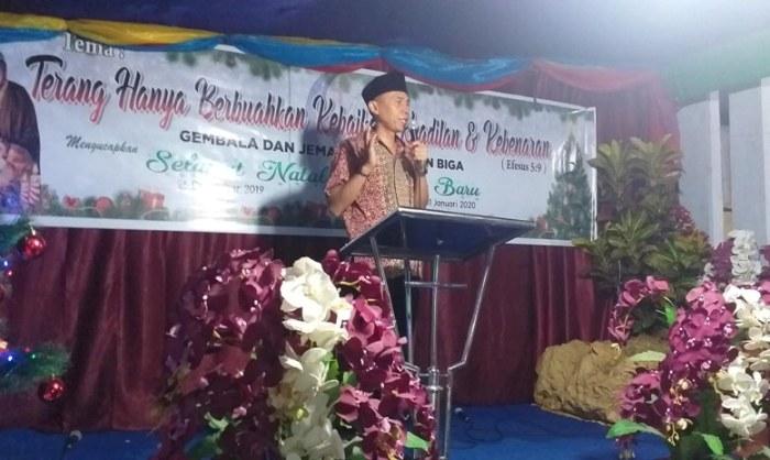Dihadiri Lurah Biga, Jemaat GPdI Zaitun Perbinda, Sukses Gelar Perayaan Natal Yesus Kristus Tahun 2019