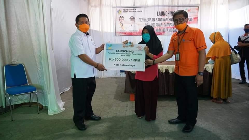 Wawali Kotamobagu dan PT Pos Gelar Launching Penyaluran Bantuan Sosial Tunai