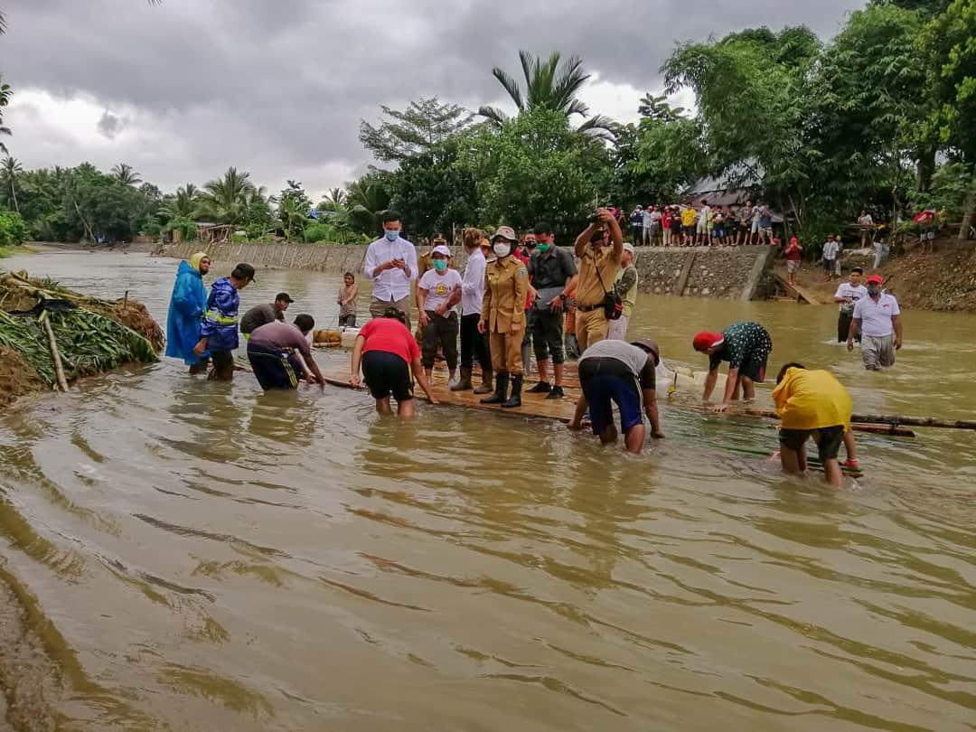 Bupati Bolmong Turun Ke Dumoga Terdampak Banjir