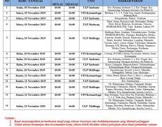 Pengumuman Pemadaman Listrik Terjadwal 18-23 November 2019 Wilayah PT.PLN UP3 Kotamobagu