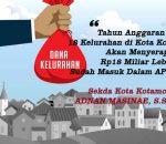 Tahun 2019, 18 Kelurahan di Kota Kotamobagu Akan Serap Rp18 Miliar