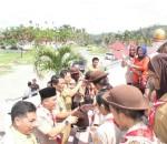 Bupati Salihi Lepas Kontingen Jambore Pramuka Bolmong