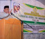 Pesan Bupati Depri Pontoh Dimomen Halal Bi Halal di Pondok Pesanteren Alkhairaat Bintauna