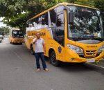 Pelajar di Kota Kotamobagu Siap Reyen Mobil Bus Sekolah Bantuan Kemenhub RI