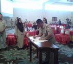 Walikota Kotamobagu Teken Dokumen RKPD Tahun 2018