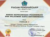 Walikota Kotamobagu Raih 3 Penghargaan Bidang Kepegawaian dari Gubernur Sulut