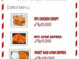 RFC Bogani, Tawarkan Paket Ayam Goreng Murah dan Halal, Pemesanan Via Aplikasi Whatsapp