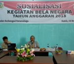 Kesbang Politik Kota Kotamobagu, Gelar Sosialisasi Bela Negara