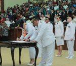 Tatong – Nayodo Resmi Jabat Walikota dan Wakil Walikota Kotamobagu Massa Bhakti 2018 – 2023