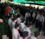 Upacara Kedinasan Polri, Polres Bolmong lepas Jasad Alm. AIPTU A.A Lawani