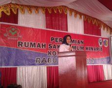 Walikota Apreseasi Peningkatan Fasilitas RSU Kinapit Kotamobagu