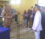 Walikota Kotamobagu Lantik Pejabat Sementara Sangadi Desa Poyowa Kecil