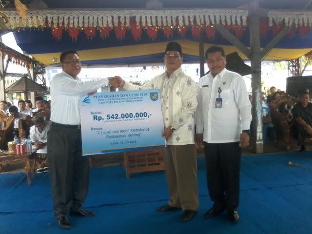 Pemkab Bolmong Terima CSR 2 Ambulance Dari Bank SulutGo Cabang Lolak
