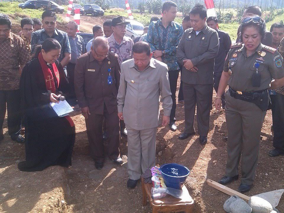 Bupati Letakan Batu Pertama Banderol Rp2,6 Miliar di SMKN 1 Bolaang