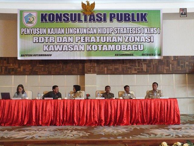 Konsultasi Publik Penyusunan Dokumen KLSH, RDTR dan Zonasi Kawasan Kotamobagu