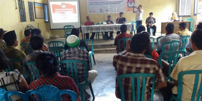 KPU Bolmong Laksanakan Giat Sosialisasi Di Kecamatan