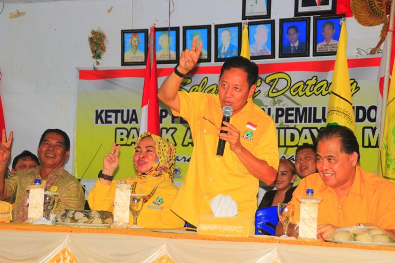 Koordinator Bidang Pemenangan Pemilu Indonesia II Partai Golkar Turun ke Dumoga