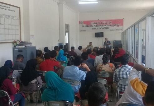 Kesbangpol Kotamobagu With KPU Gelar Diskusi Politik