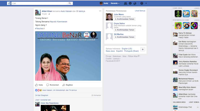 Wew!!! Netizen Seret Ketua KPU Kotamobagu dalam Nuansa Aroma 'Politik Praktis'?
