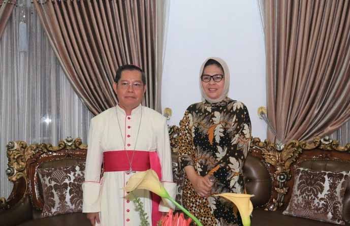 Walikota Kotamobagu Terima Kunjungan Kerja Rombongan Keuskupan Manado