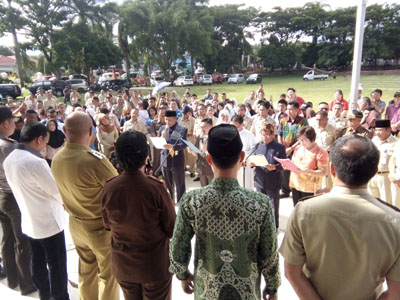 Pjs Walikota Teken Deklarasi Tolak Kekerasan dan Terorisme