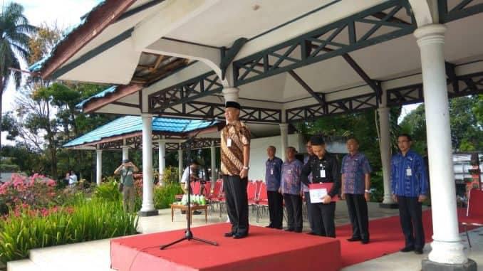 Walikota Pimpin Apel Perdana Pasca Cuti Lebaran Idul Fitri 1438 Hijriah