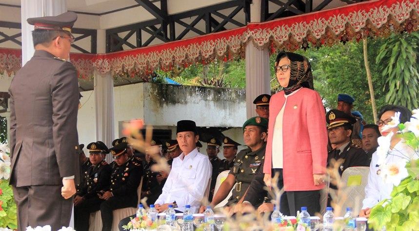 Puncak Peringatan HUT Bhanyangkara Ke-72, Walikota Tatong Bara Bacakan Sambutan Presiden RI