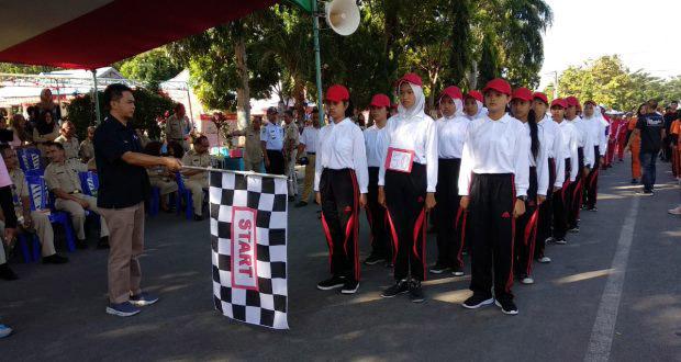 Pelajar SMP dan SMA se-Kota Kotamobagu Giat Lomba Gerak Jalan