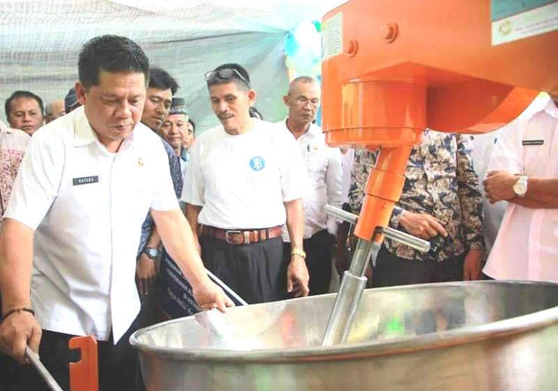 Mesin Pengolah Nenas Bantuan BI, Dukung Potensi 136 Hektar Kebun Nenas Kawasan Kotamobagu