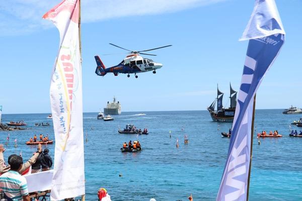 Tiga Rekord Dunia SELAM, Dipecahkan di Pantai Dekat Taman Laut Bunaken Manado